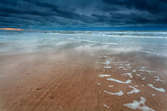 North sea coast at storm Stock Image