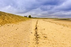 Dutch Landscape with Dike Royalty Free Stock Photography