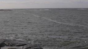 North Sea stock video footage
