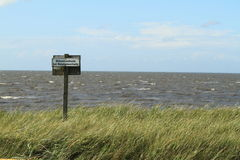 North Sea Dyke Stock Photography