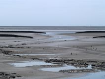 North Sea ebb tide. North Sea ebb, no water Stock Photography