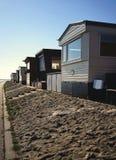 North Sea fishing huts royalty free stock image