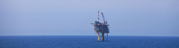 North Sea Gas Drilling Platform Stock Photo