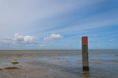 North Sea from the Green Beach at Schiermonnikoog. (the Netherlands) with a clear blue sky Stock Photography