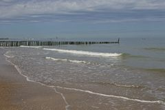 North sea jetty at coast Stock Images