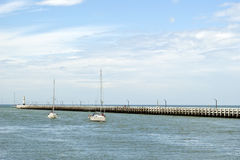 North sea with pier Stock Image