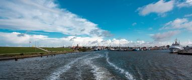 North Sea port in Busum.  royalty free stock image