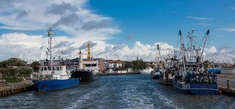 North Sea. Port city of Busum Royalty Free Stock Photos