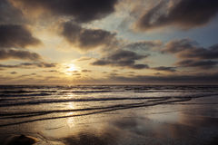 North Sea, sunset Stock Images