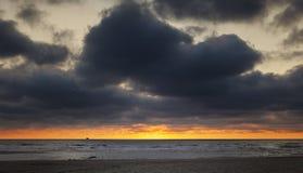 North Sea, sunset Royalty Free Stock Photo