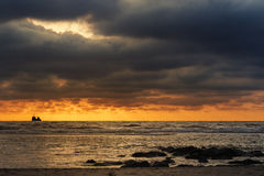 North Sea, sunset Royalty Free Stock Image