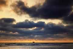 North Sea, sunset Stock Image