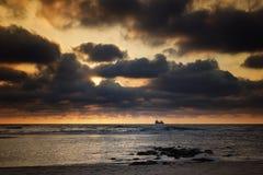 North Sea, sunset Stock Photo