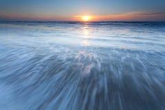 North sea waves at sunset Royalty Free Stock Photography