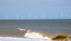 North Sea Wind Farm Royalty Free Stock Photo