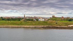 North Shields, Tyne and Wear, England, UK. September 05, 2018: View from the River Tyne at the Skyline of Tynemouth royalty free stock photos