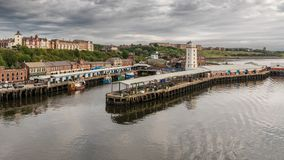 North Shields, Tyne and Wear, England, UK. September 05, 2018: View from the River Tyne at the North Shields Fish Market royalty free stock image