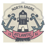 North Shore, Atlantic label Stock Photo