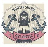 North Shore, Atlantic label Stock Photo
