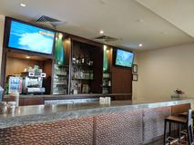 Inside Hotel Bar. North Shore, Hawaii - March 1, 2018: Inside Turtle Bay Resort Hotel Bar. The Turtle Bay Resort is the major hotel on the North Shore of Oahu royalty free stock images