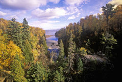North Shore of Lake Superior, Tettegouche State Park, MN Stock Image