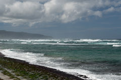 North Shore, Oahu. Waves pounding the Oahu`s North Shore, Hawaii Stock Photo