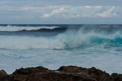 North Shore, Oahu. Waves pounding Oahu`s North Shore, Hawaii Stock Photography