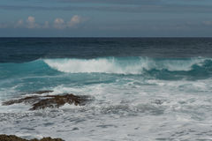 North Shore, Oahu. Waves pounding the Oahu`s North Shore, Hawaii Stock Photography