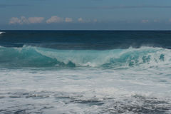 North Shore, Oahu. Waves pounding the Oahu`s North Shore, Hawaii Royalty Free Stock Photography