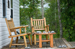 North shore porch Royalty Free Stock Photography
