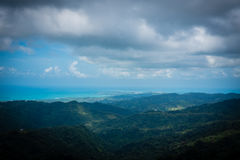 North shore, puerto rico. Viewed from el yunque national park Stock Image