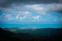North shore, puerto rico. Viewed from el yunque national park Royalty Free Stock Photography