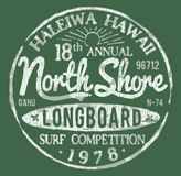 North Shore Surf Themed Vintage Design Stock Image