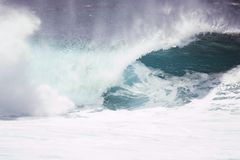 North Shore Wave. Crashing wave on the North Shore of Hawaii Stock Images