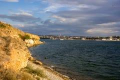 North side of the city of Sevastopol, Crimea stock image
