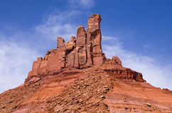 North Six Shooter Tower. North Six Shooter desert sandstone tower in Utah Stock Photos