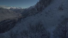 North slope Aibga Ridge of Western Caucasus at Rosa Khutor Alpine Resort stock footage video stock video footage