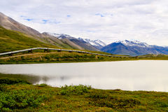 North slope pipeline. A view of the Alaska oil pipeline in the wilderness of the North Slope in Alaska stock photos