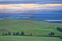 North of Slovakia. Landscape in the north of Slovakia stock photography