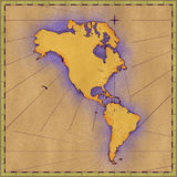 North and South America Stock Image