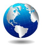 North, South America, Europe, Africa Global World Royalty Free Stock Photo