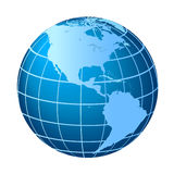 North and South America globe Royalty Free Stock Image
