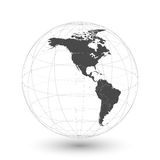 North and South America map background vector.  Stock Images