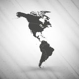 North and South America map on gray background, Stock Photos