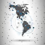 North and South America map vector, illustration Stock Photo