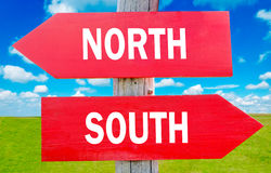 North or south Stock Images