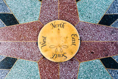 North South East West. Compass points with north south east west stock photography