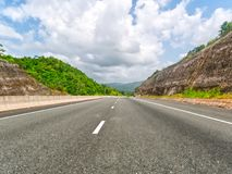 North South high way in Jamaica- Kingston - Ocho Rios. Highway in Jamaica stock images