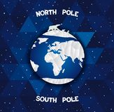 North and south poles Royalty Free Stock Photography