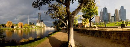 North and south view of the yarra river in melbourne Royalty Free Stock Image